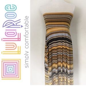 LuLaRoe maxi skirt in yellow stripes Size S